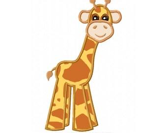 Lovable Giraffe Applique Machine Embroidery DESIGN NO. 369
