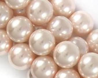 Glass Pearls - Bare Pink - 2 sizes