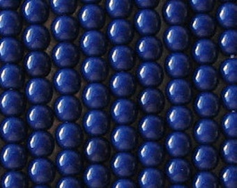 Czech Glass Druk 6mm - Pack 35 Beads - Dark Blue