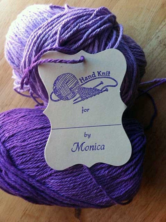 Knitting Gift Tags : Knitting gift tags large ivory with your name and ink