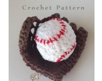 Baby's First Baseball & Glove - PDF CROCHET  PATTERN