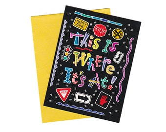 Vintage 80s/90s Birthday Party Invitations - Set of 10