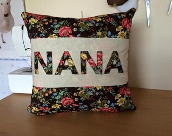 NANA handmade cushion/pillow. Perfect gift/present. Shabby chic.