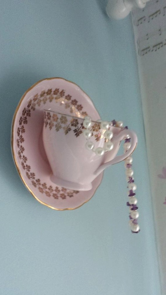Wall Decoration Gifts : Jewellery wall hanger vintage teacup decoration gift