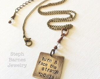 David Bowie necklace in bronze