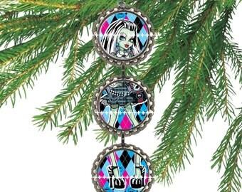 1 Monster High Bottle Cap Christmas Ornament your Choice