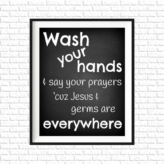 Chalkboard Bathroom Print 8x10 Printable Art Print