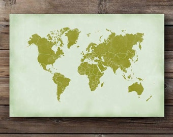 Texas map chalkboard art print printable texas state large world map countries print printable distressed world map of the world green wall art decor gumiabroncs Images