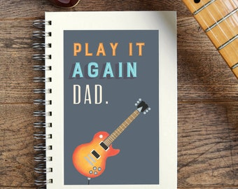Personalised Play It Again Music Notebook