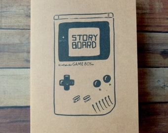 Storyboard Notebook notebook for comic artists-A5 like moleskine kraft