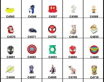Cartoon Floating Charms for your Floating Memory Lockets