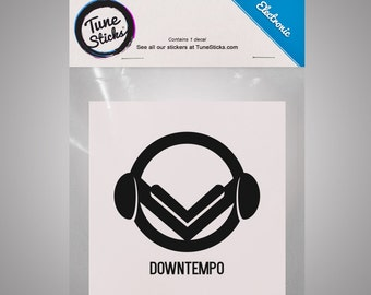 Electronic - Downtempo [Music genre vinyl decal]