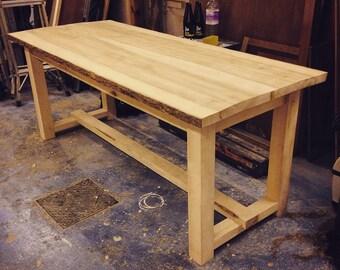 Solid ash farmhouse table
