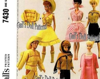 Barbie & Ken Western Wardrobe Pattern