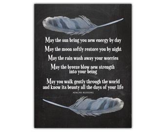 Native american art - prayer art - inspirational printable - feather art - native art - feather print - indian decor - feather decor