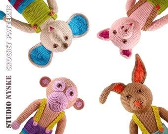 Amigurumi Pig Rabbit : Popular items for crochet doll pattern on Etsy