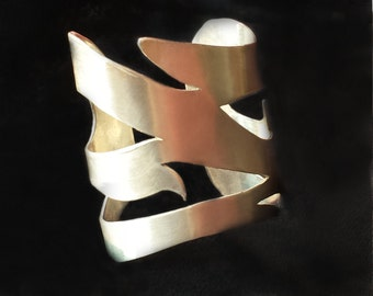 "Sterling Silver Bracelet - ""Milano"" A wearable unique sculpture-jewelry"