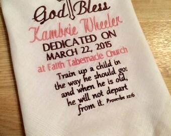 Personalized Dedication Handkerchief