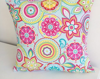 CLEARANCE Rainbow bright pillow cover