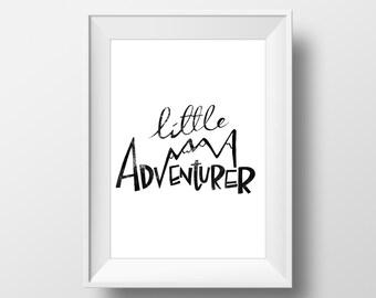 Little Adventurer 8 x 10 Print | INSTANT DOWNLOAD Digital PDF