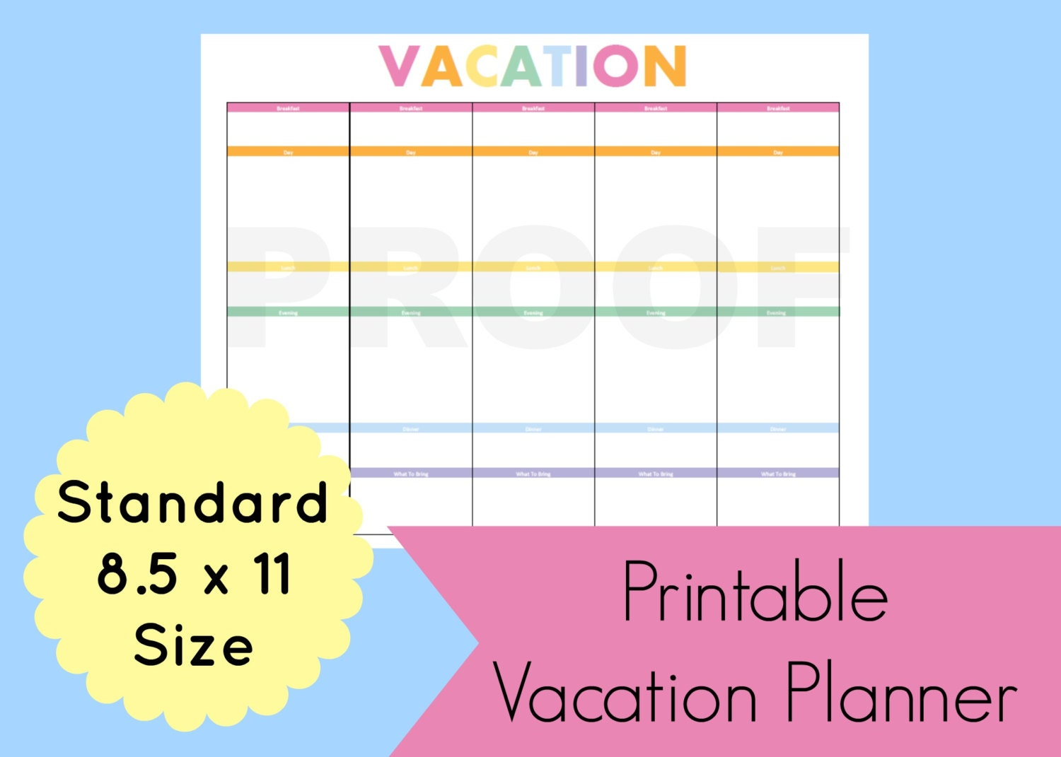 Vacation Itinerary Template Vacation Planner By Commandcenter