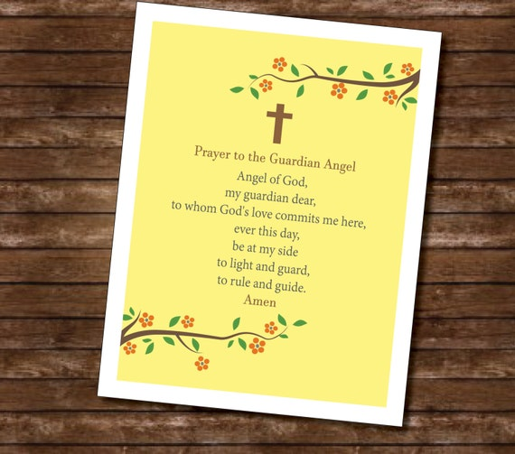 Soft image for guardian angel prayer printable