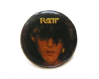 Vintage Early 80s Ratt / Hair Metal / Stephen Pearcy Enamel Pin
