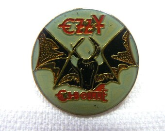 Vintage Early 80s Ozzy Osbourne - Speak of the Devil Album (1982) - Enamel Pin / Button / Badge