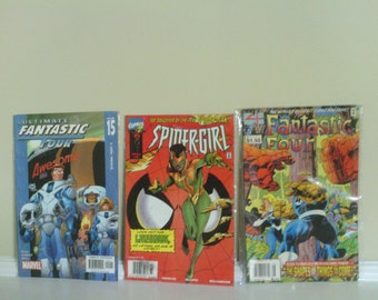 Marvel Comics, Fantastic Four and Spider-Girl.