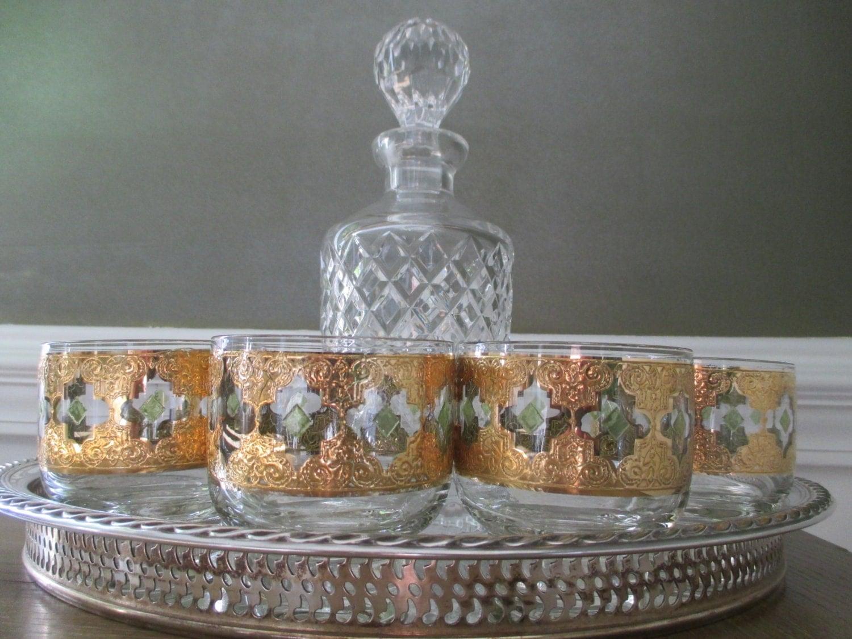 Culver valencia rocks glasses vintage glassware - Vintage valencia ...