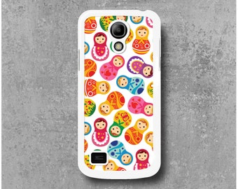 Samsung Galaxy S4 Mini Case White Russian Dolls Matryoshka