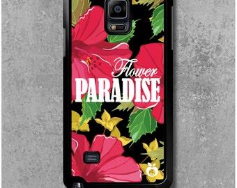 Samsung Galaxy Note 4 case Hibiscus Flower Paradise