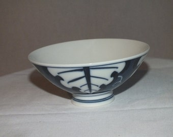 Blue and White Footed Rice Bowl