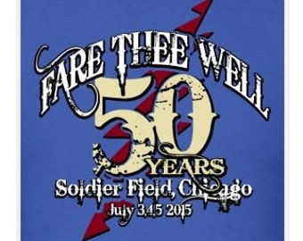 Grateful Dead Chicago Fare Thee Well Aged Lot Shirt   Men's