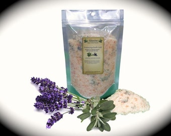 Organic Aromatherapy Mineral Bath Salt >various scents to choose from<