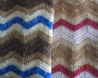 DIY baby blanket. Kit containing crochet pattern and hand dyed Icelandic wool