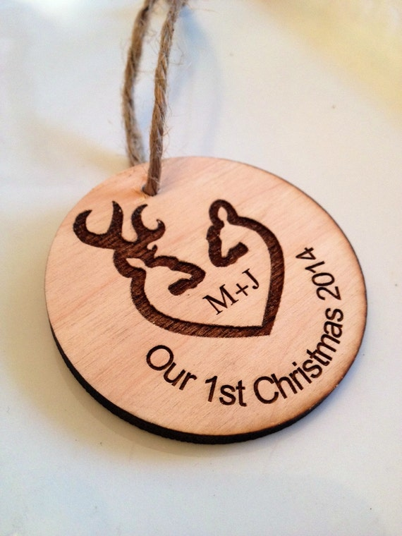 Personalized Christmas ornament, engraved Christmas ornament, browning decoration, christmas tree decoration, christmas gift, wedding gift