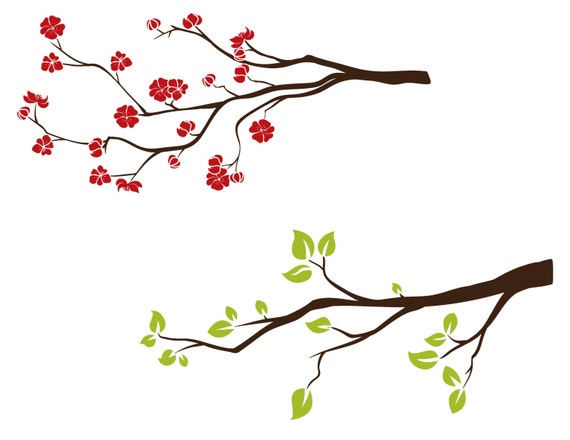 Spring Tree Branch Clipart Flowering Tree Clip Art