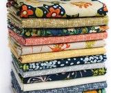 Complete Fat Quarter Bundle or 1/2 Yard Bundle Dear Stella Fabrics, Floral Daze Fabric, a Modern Spring Collection