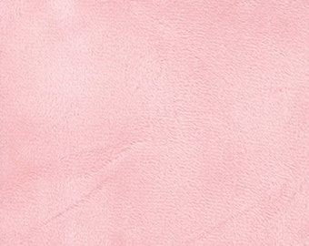 Moda Snuggles, Soft Texture Fabric, Like Minky in Baby Pink