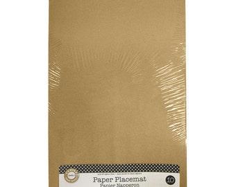 Paper Placemat Kraft (10 Piece)