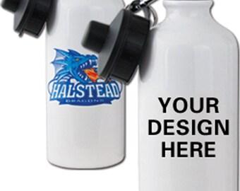 Custom White Aluminum Water Bottle 20 oz