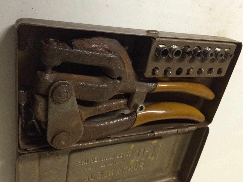 Vintage Roper Whitney No 5 Jr Sheetmetal Hand Punch By