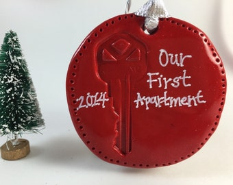 Our (or My) First Apartment or Home Key Ornament