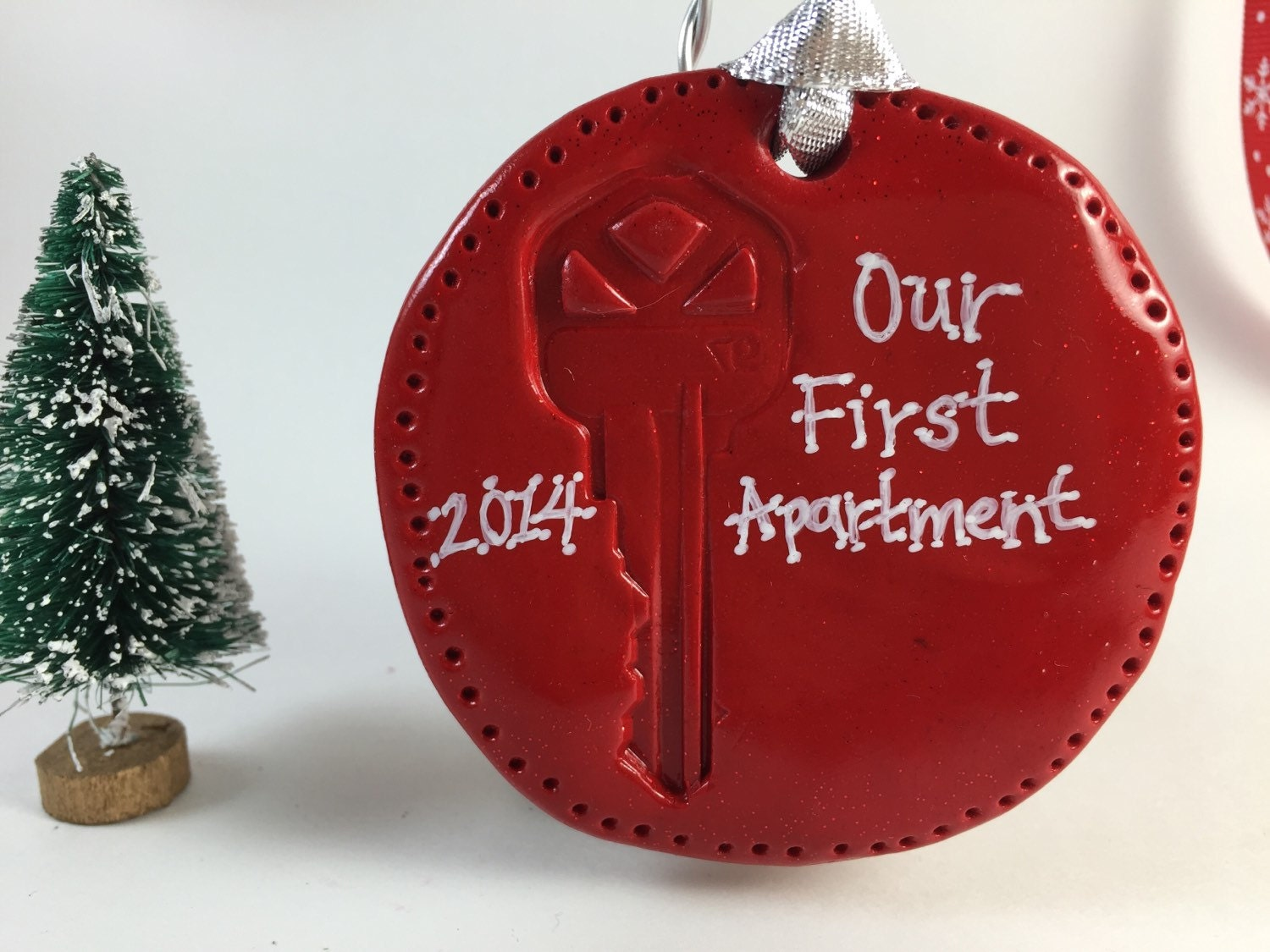 our or my first apartment or home key ornament