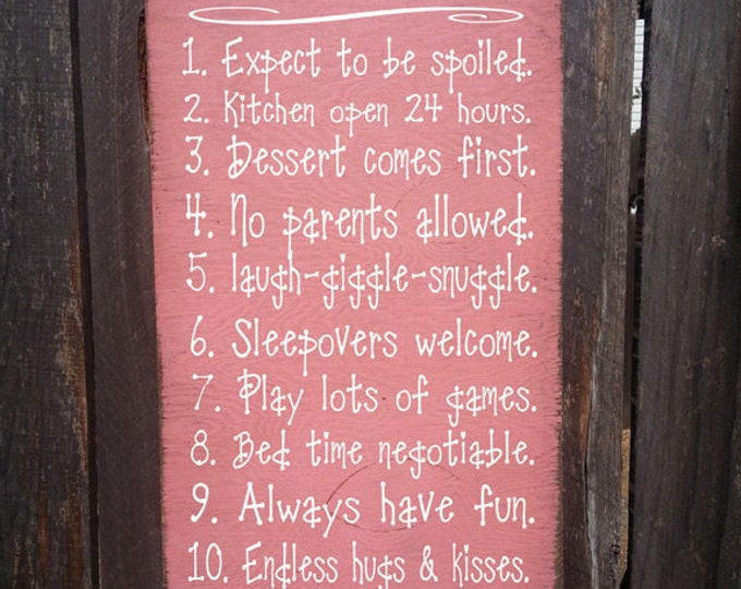 Personalized Grandma's House Rules Sign, family saying, funny grandma sign, personalized nana sign, grandma gift, personalized sign
