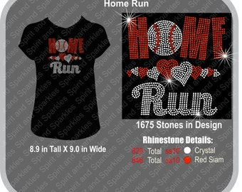 Home Run Rhinestone T-Shirt, Tank or Hoodie