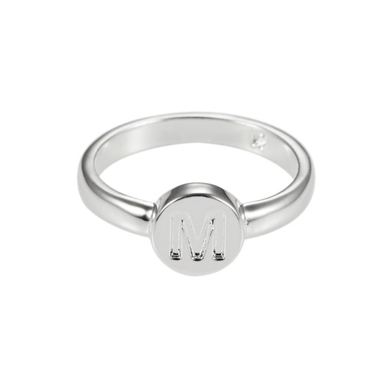 M Letter In Ring Initial Ring Le...