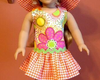 "American girl or 18"" doll Easter or spring/summer dress"