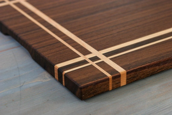 walnut maple wood cutting board or serving board in a. Black Bedroom Furniture Sets. Home Design Ideas